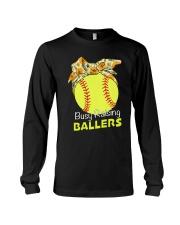 Softball- Busy Raising Ballers Long Sleeve Tee thumbnail