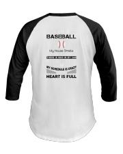 Baseball mom - my heart is full Baseball Tee thumbnail