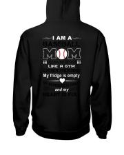 Baseball mom - my heart is full Hooded Sweatshirt thumbnail