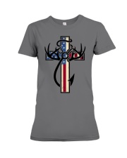 Hunting Faith Flag - front only Premium Fit Ladies Tee thumbnail
