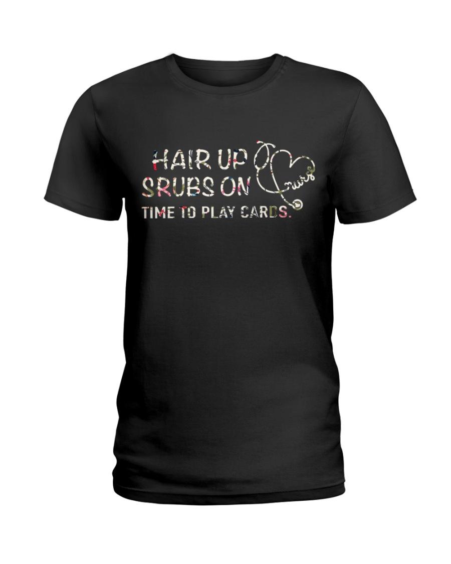scrubs on nurse Ladies T-Shirt