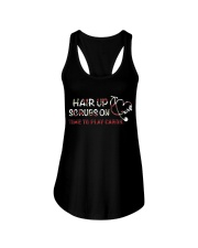 scrubs on time to play cards Ladies Flowy Tank thumbnail