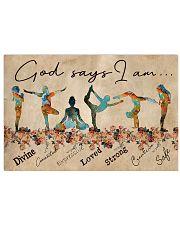 Yoga God Says I Am 17x11 Poster front