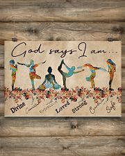 Yoga God Says I Am 17x11 Poster poster-landscape-17x11-lifestyle-14