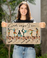 Yoga God Says I Am 17x11 Poster poster-landscape-17x11-lifestyle-19