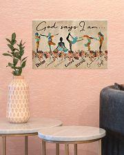 Yoga God Says I Am 17x11 Poster poster-landscape-17x11-lifestyle-21