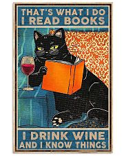 Cat Books Wine 11x17 Poster front