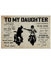Poster To Daughter Biker 17x11 Poster front