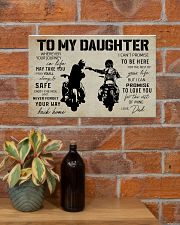 Poster To Daughter Biker 17x11 Poster poster-landscape-17x11-lifestyle-23