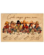 God say you are cowgirls 17x11 Poster front