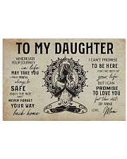 Yoga Poster To Daughter 17x11 Poster front