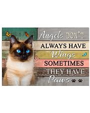 Angels don't  Always have Wings Cats 17x11 Poster front