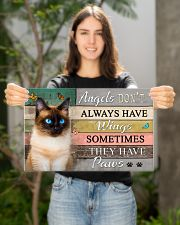 Angels don't  Always have Wings Cats 17x11 Poster poster-landscape-17x11-lifestyle-19