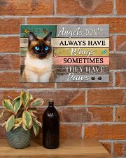 Angels don't  Always have Wings Cats 17x11 Poster poster-landscape-17x11-lifestyle-23