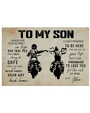 Poster To Son Biker Mom 17x11 Poster front
