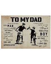 Poster To My Dad Bicycle 17x11 Poster front