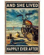 Girl Motorcycle Beach 11x17 Poster front