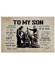 Mechanic Dad To My Son 17x11 Poster front