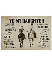 To My Daughter Horse Mom 17x11 Poster front