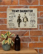To My Daughter Horse Mom 17x11 Poster poster-landscape-17x11-lifestyle-23