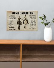 To My Daughter Horse Mom 17x11 Poster poster-landscape-17x11-lifestyle-24