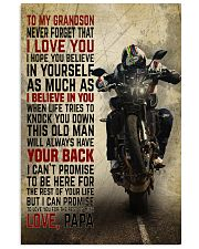 To my son Grandson v2 11x17 Poster front