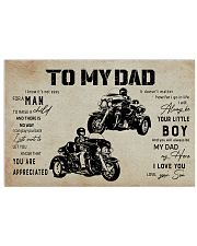 Poster To My Dad Three Wheels 17x11 Poster front