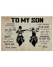 Poster To Son Biker Mum 17x11 Poster front