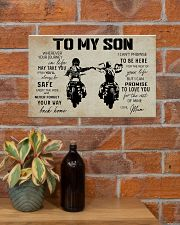 Poster To Son Biker Mum 17x11 Poster poster-landscape-17x11-lifestyle-23