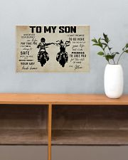 Poster To Son Biker Mum 17x11 Poster poster-landscape-17x11-lifestyle-24