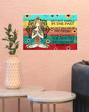 Do not dwell in the past- Yoga poster 17x11 Poster poster-landscape-17x11-lifestyle-21