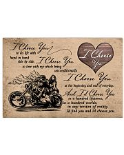 I Choose You biker 17x11 Poster front