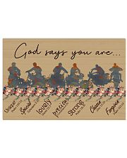 God say you are biker 17x11 Poster front