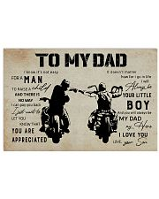 Poster To My Dad 17x11 Poster front