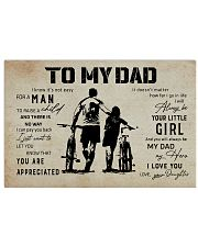 Poster To My Dad Daughter Bicycle 17x11 Poster front