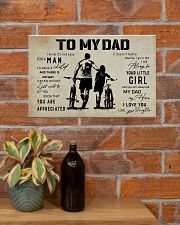Poster To My Dad Daughter Bicycle 17x11 Poster poster-landscape-17x11-lifestyle-23