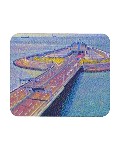 Hong Kong-Zhuhai-Macao Bridge Art Pointillism