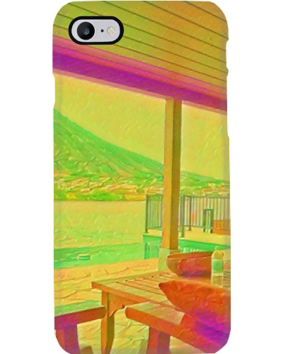 Usa Hawaii House Beach Artistic Illustration Acid
