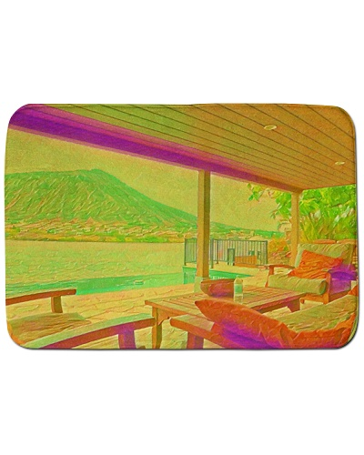 Usa Hawaii House Beach Artistic Illustration Acid