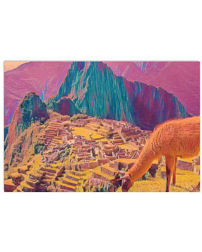 Peru Machu Picchu Art Illustration Acid Acrylc