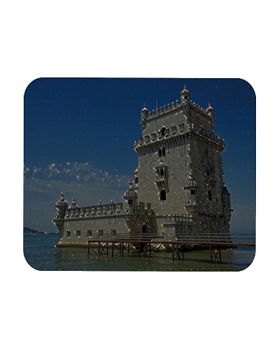 Portugal Belém Tower Artistic Illustration Star