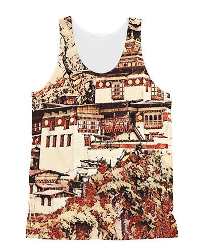 Bhutan Paro Taktsang Artistic Illustration Blossom