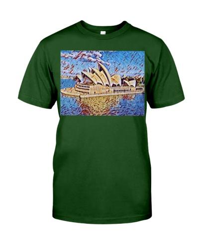 Australia Opera House Artistic Illustration Mosaic