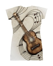 3D PRINT GUITAR T-SHIRT All-over Dress back