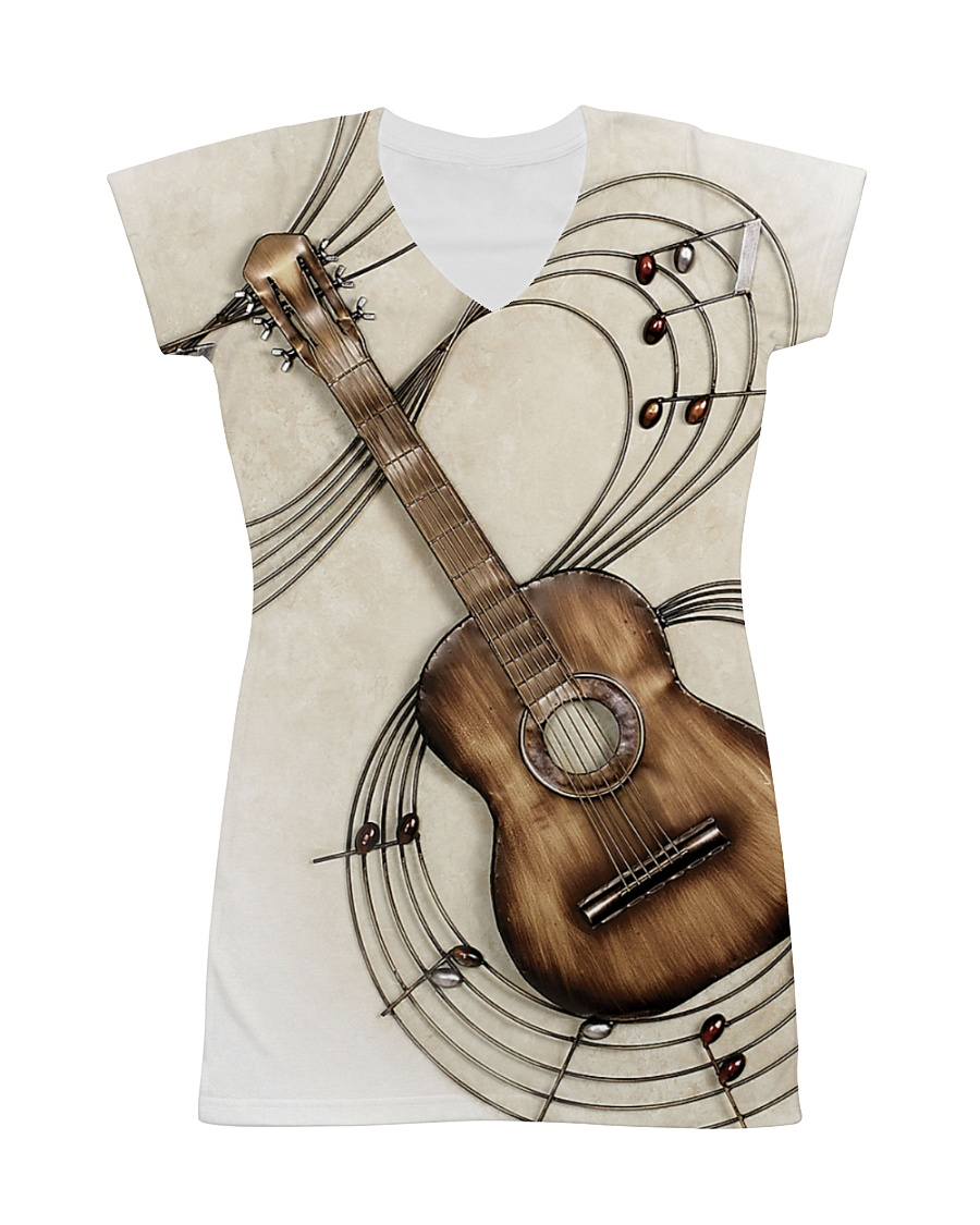 3D PRINT GUITAR T-SHIRT All-over Dress