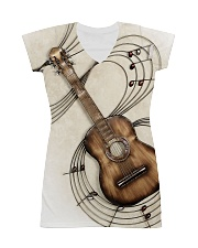 3D PRINT GUITAR T-SHIRT All-over Dress front