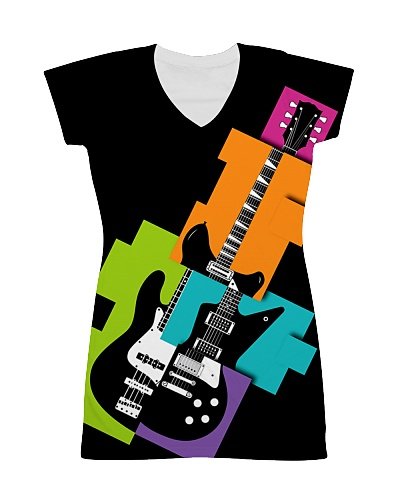 3D PRINT ELECTRIC GUITAR T-SHIRT