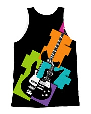 3D PRINT ELECTRIC GUITAR T-SHIRT All-over Unisex Tank back