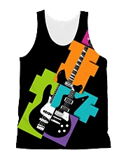 3D PRINT ELECTRIC GUITAR T-SHIRT All-over Unisex Tank front