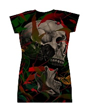 3D PRINT SKULL T-SHIRT All-over Dress back